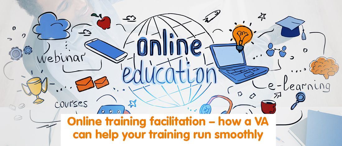 Illustration showing online education